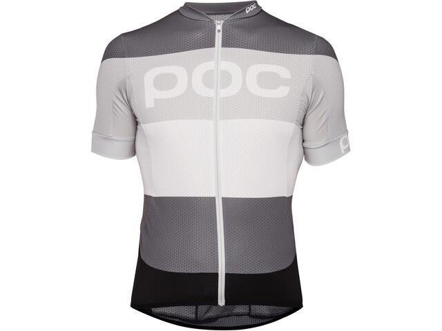 POC Essential Road Logo Jersey Men steel multi grey